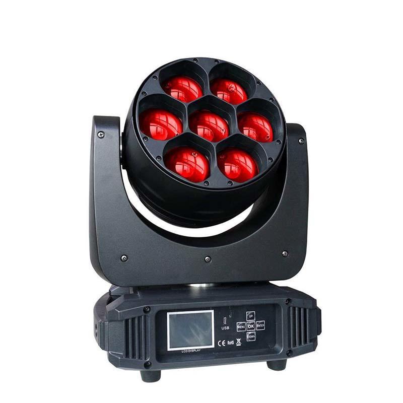 7Pcs 40W LED Zoom Moving Head Light