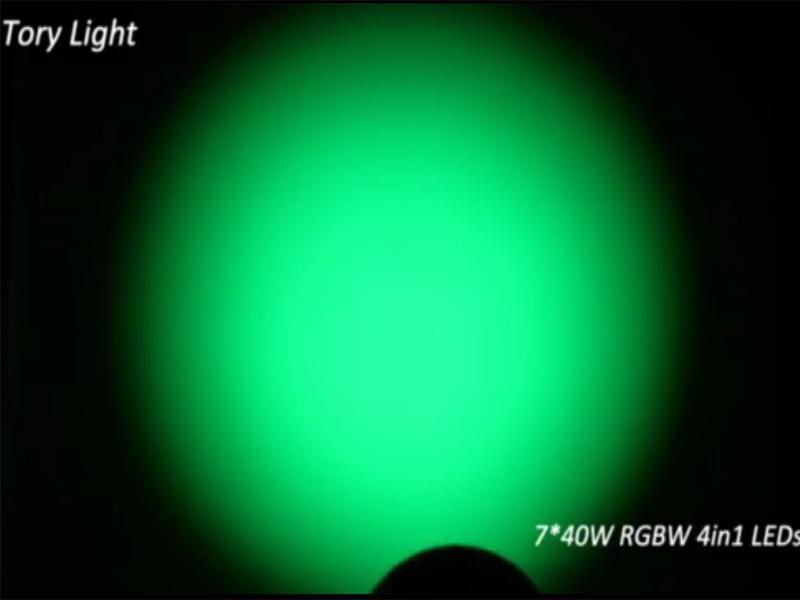 7Pcs 40W Led zoom moving head lights