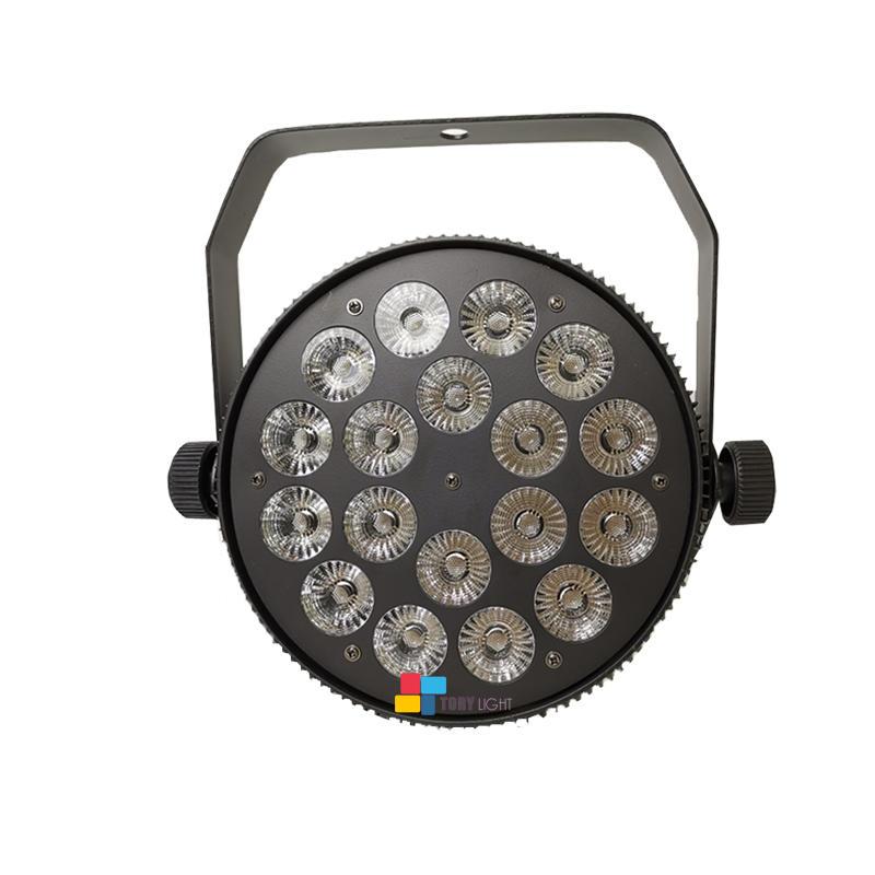 Indoor Slim Disco Light 18pcs 12w RGBW Parcan