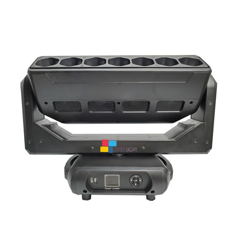 DJ Led Zoom 7Pcs 40W RGBW Moving Head Light